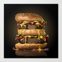 B for Burger Canvas Print