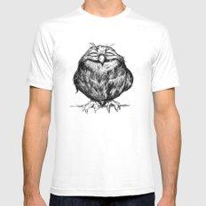 Owl Ball Mens Fitted Tee White SMALL