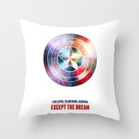 The first avenger Throw Pillow