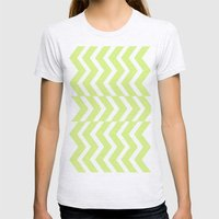 Chevron  Womens Fitted Tee Ash Grey SMALL