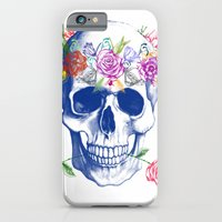 iPhone & iPod Case featuring Halloween Skull by Agata Duda