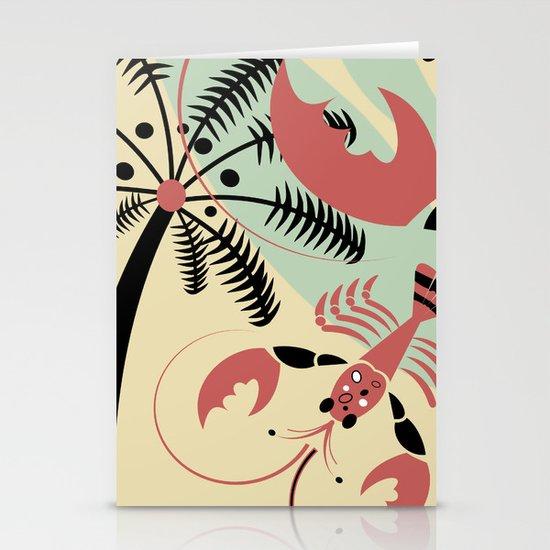 Lobster Rhumba Stationery Card