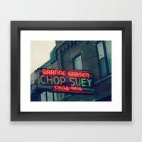 Chop Suey II ~ Chicago V… Framed Art Print