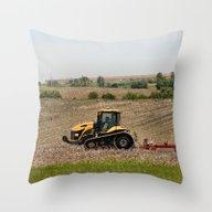Iowa  Farming Throw Pillow