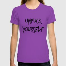 Unfuck Yourself Womens Fitted Tee Ultraviolet SMALL