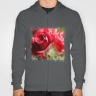 Red Roses Bouquet Hoody
