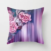 ROSES IMPRESSIONS Throw Pillow