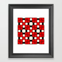 Seventies Mosaic Framed Art Print