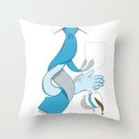 Decaf Disaster Throw Pillow