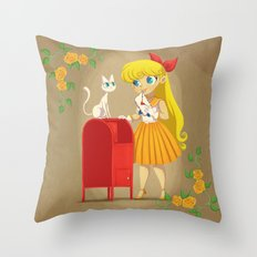 Retro Sailor Venus Throw Pillow