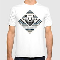 Indian Panda Mens Fitted Tee White SMALL