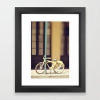 Yellow New Orleans Bicyc… Framed Art Print