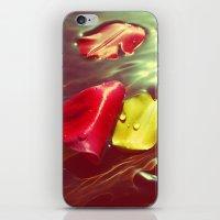 Lomo Vintage Flower Petals on Water iPhone & iPod Skin