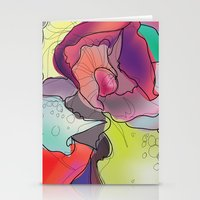Abstract Rose. Stationery Cards
