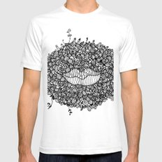 Mouthing SMALL Mens Fitted Tee White