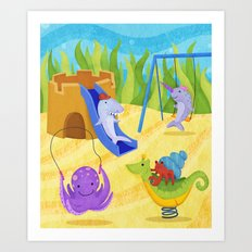 Undersea Playground Art Print
