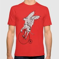 Steam Punk Great Dane Mens Fitted Tee Red SMALL