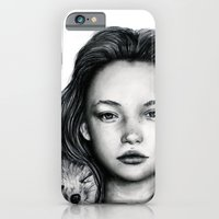 iPhone & iPod Case featuring The Girl and Fox by Bella Harris