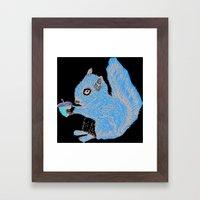 Squirrel in Colour Framed Art Print