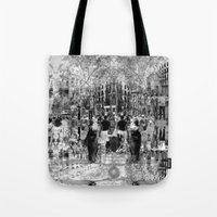 Summer space, smelting selves, simmer shimmers. 26, grayscale version Tote Bag