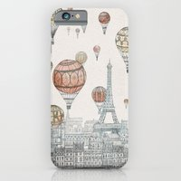 paris iPhone & iPod Cases featuring Voyages Over Paris by David Fleck
