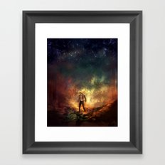 Carrying Hell Framed Art Print