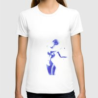 Woman In Watercolour Womens Fitted Tee White SMALL