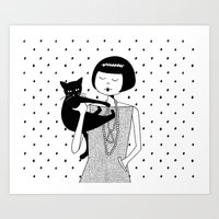 the cat's meow Art Print