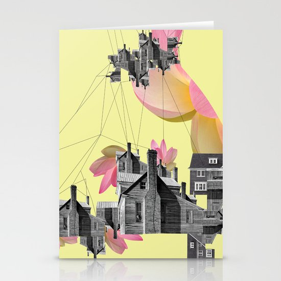 Filled with city Stationery Card