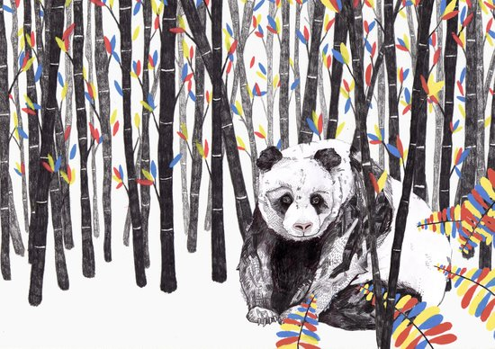 Panda Bear // Endangered Animals Art Print