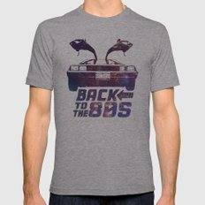 Back To The 80s Mens Fitted Tee Athletic Grey SMALL