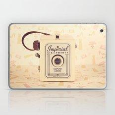 Pretty One Beige and Feminine Film Camera (Vintage and Retro Still Life Photography)  Laptop & iPad Skin