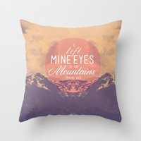 The Mountains Throw Pillow