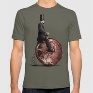 Penny Farthing  Mens Fitted Tee Lieutenant SMALL