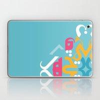 Blue Arabic Laptop & iPad Skin