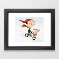 Bicicleta Framed Art Print