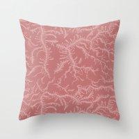 Ferning - Dusty Rose Throw Pillow