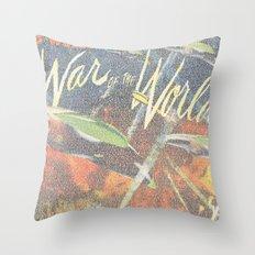 War Of The Worlds Script Print Throw Pillow