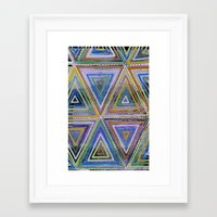 Triangling Framed Art Print