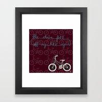The chain fell off my bike Framed Art Print