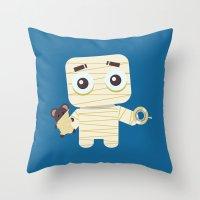 MUMMY'S BOY Throw Pillow