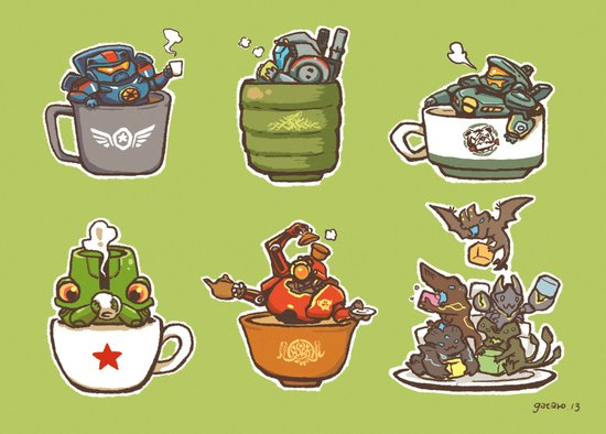 Jaegers in a cup Art Print