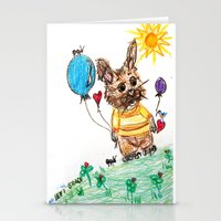 ::  Honey Rabbit On The … Stationery Cards