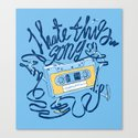 Sad song Canvas Print