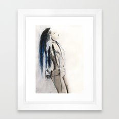 True to her creed, she did not attempt to interfere Framed Art Print