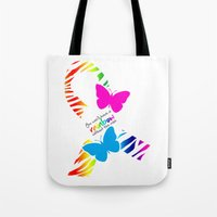 You can't have a Rainbow without the Rain - Awareness Ribbon Tote Bag