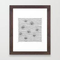 PEEPING TOM [BLK & WHT] Framed Art Print