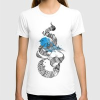 Tweet Your Art. Womens Fitted Tee White SMALL