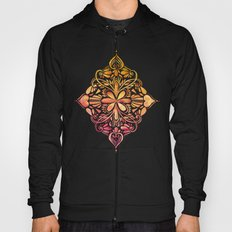 Sunset Art Nouveau Watercolor Doodle Hoody