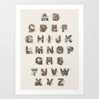 Resort Alphabet Art Print